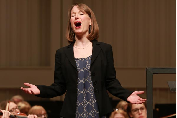 Kathryn Mueller, soprano with Spartanburg Philharmonic