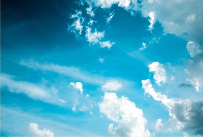 photo of blue sky with clouds